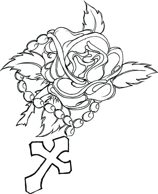 522x640 Coloring Pages Of Crosses Cross Color Pages Famous Cross Coloring