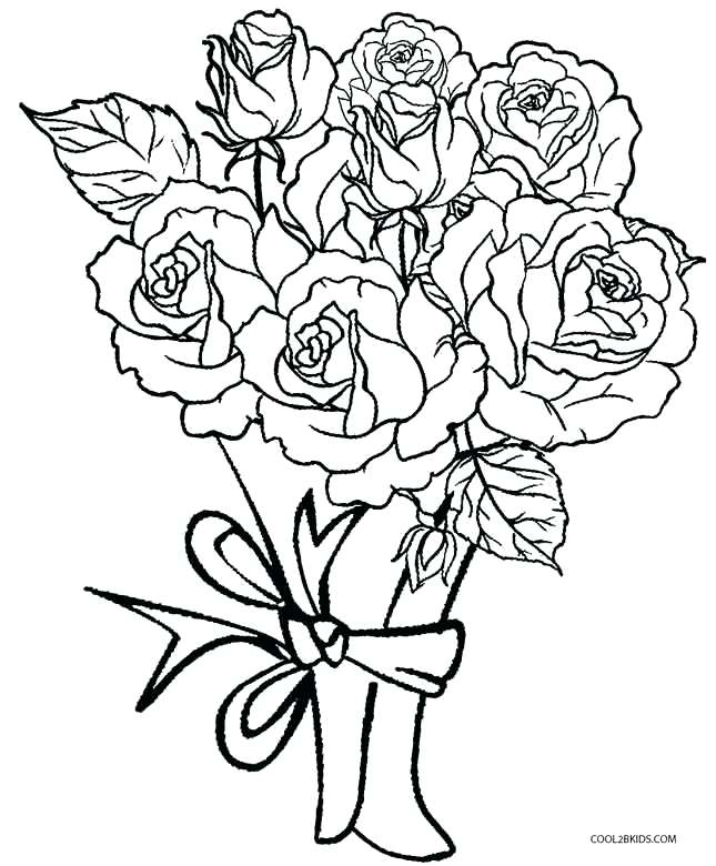 645x780 Printable Rose Coloring Pages Roses Coloring Pictures Rose