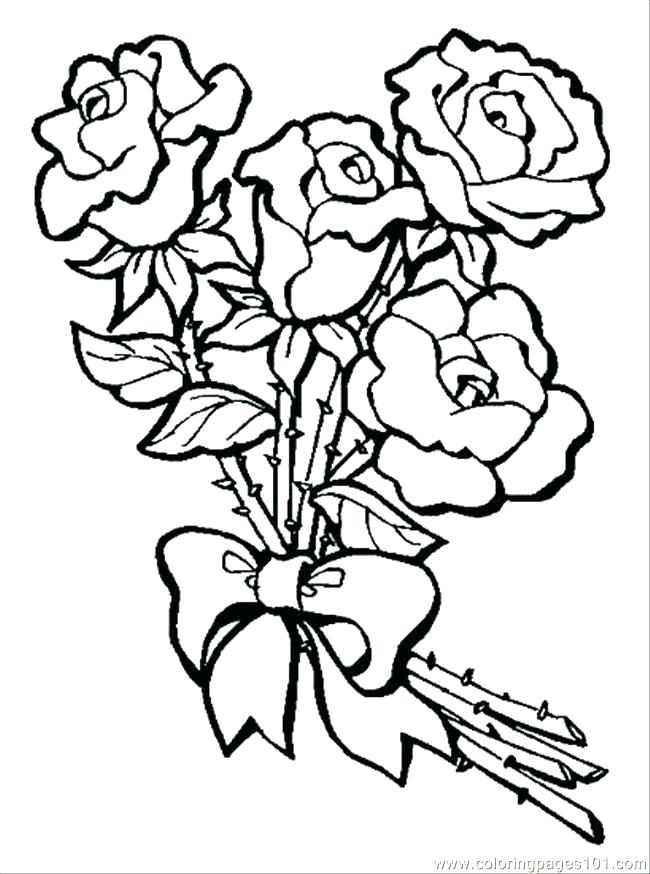 650x874 Rose Coloring Books Color Pages Of Hearts Coloring Pages Roses