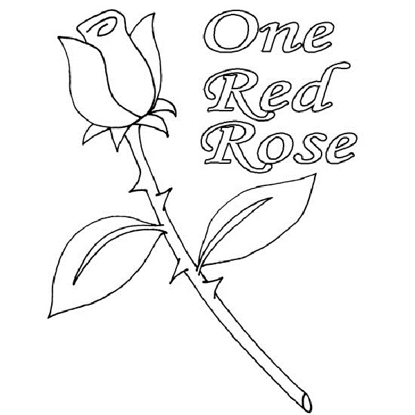 600x600 Coloring Pages Of Rose Buds Coloring Kids Rose Buds