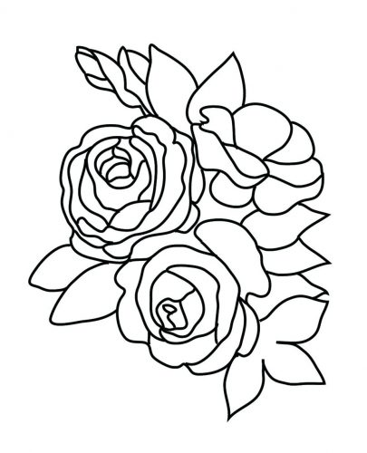 405x500 Coloring Pages Rose Coloring Page Bud Flower Pages For Kids