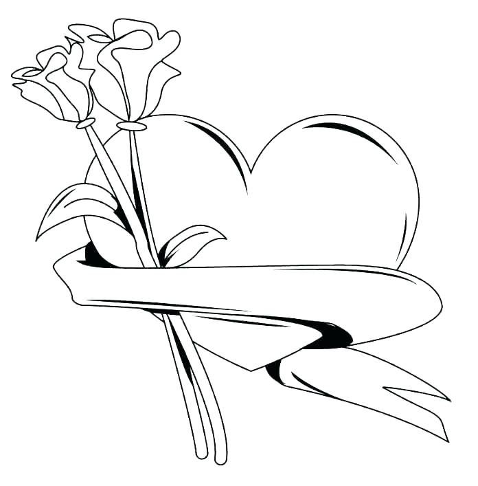 696x707 Coloring Page Rose Coloring Page Of A Rose Hearts And Flowers