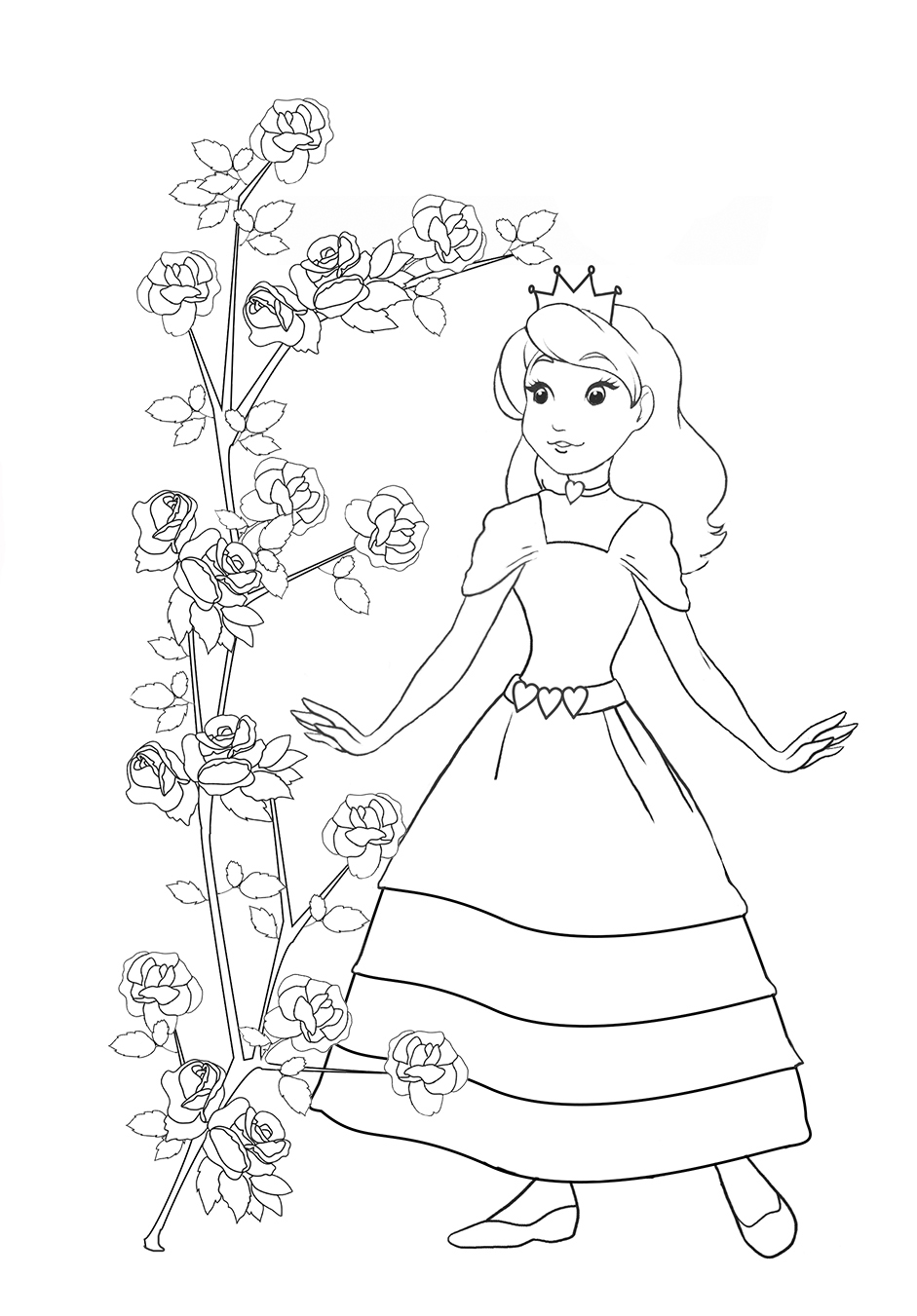 941x1351 Princess Coloring Pages