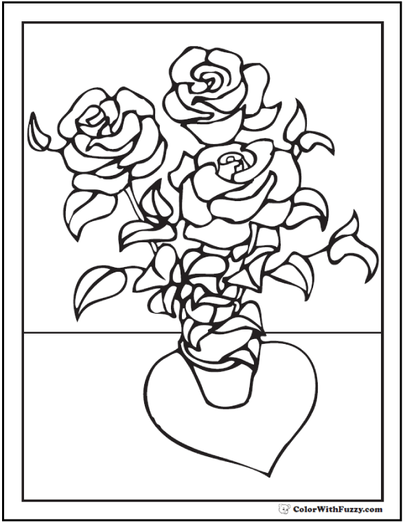 590x762 Shrub Coloring Page Rose Coloring Pages Customize Pdf