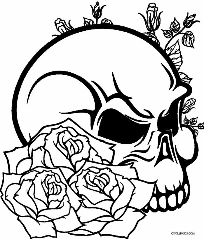 699x820 Skulls And Hearts Coloring Pages
