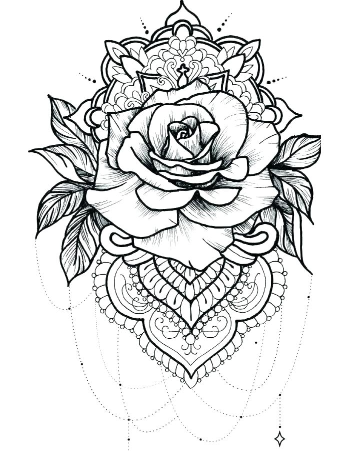 720x900 Coloring Pages Roses Coloring Pages Rose Beautiful Big Rose