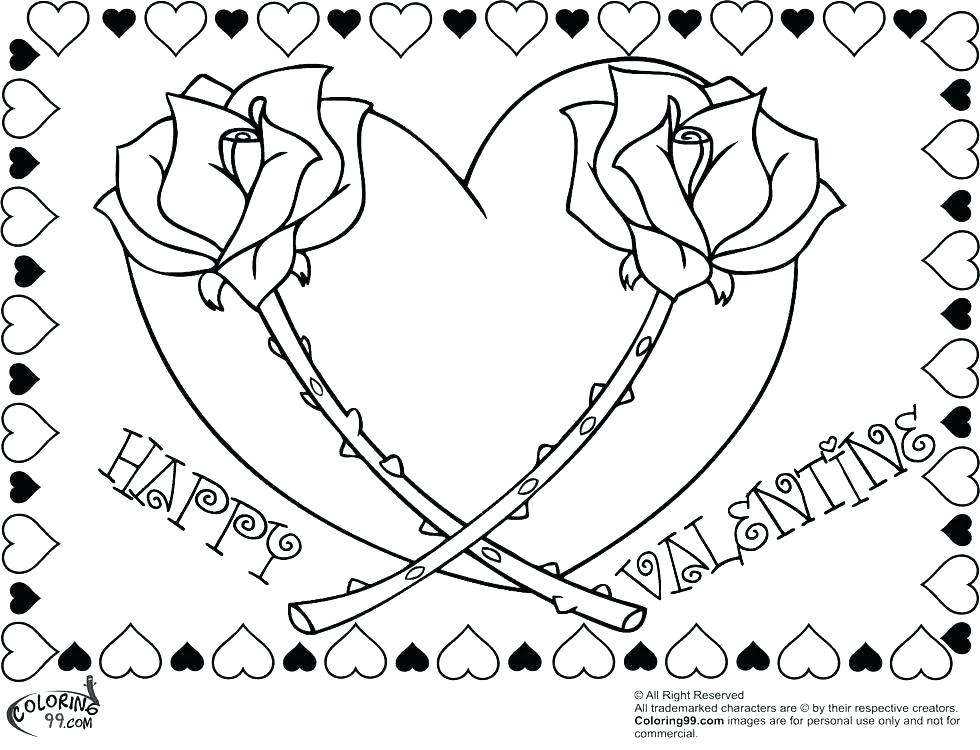 980x750 Free Heart Coloring Pages For Adults Printable Happy Valentines