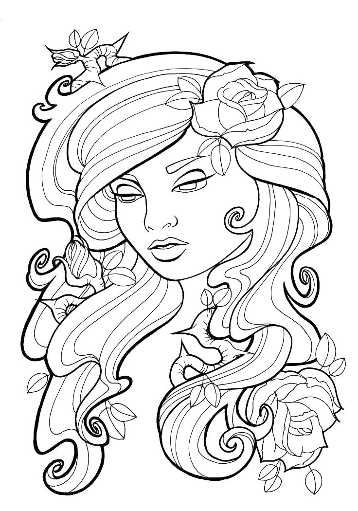736x1050 Rose Coloring Pages Printable Free Printable Rose Coloring Pages