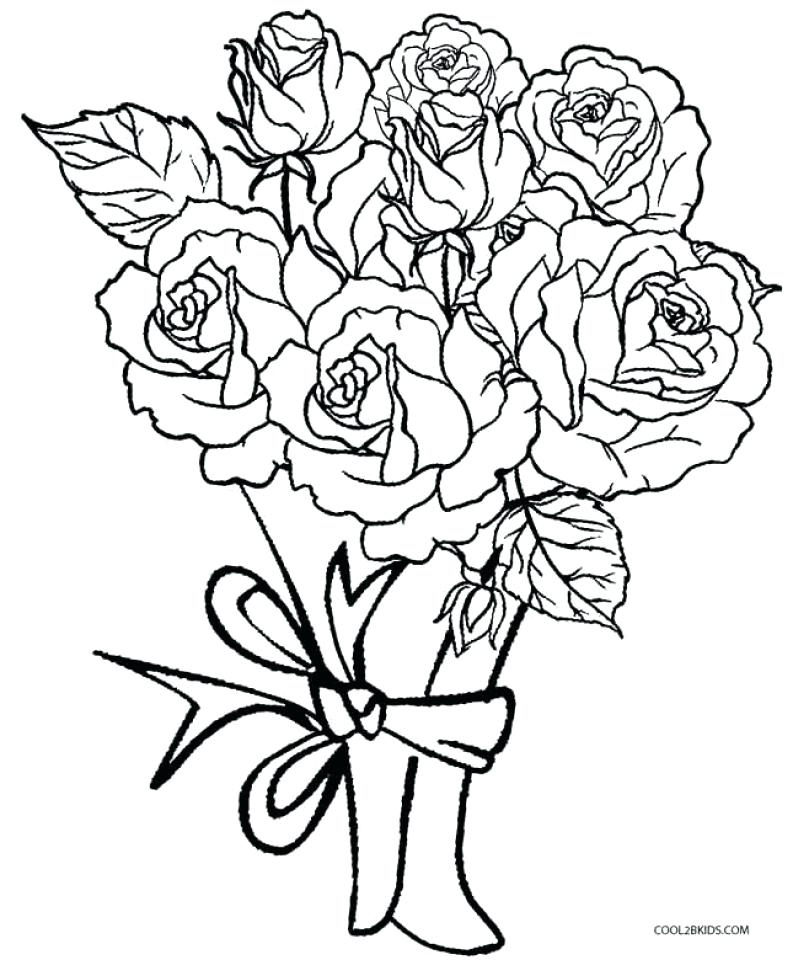 793x960 Roses Coloring Pages Printable Free Printable Rose Coloring Pages