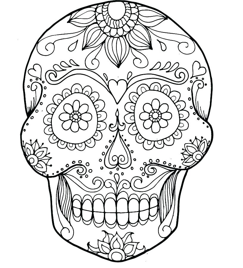 816x900 Skulls And Roses Coloring Pages Deepart