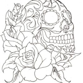 268x268 Coloring Pages For Adults Roses Archives