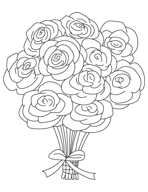 612x792 Coloring Pages Roses Inspiring Rose Coloring Page Ideas For Your