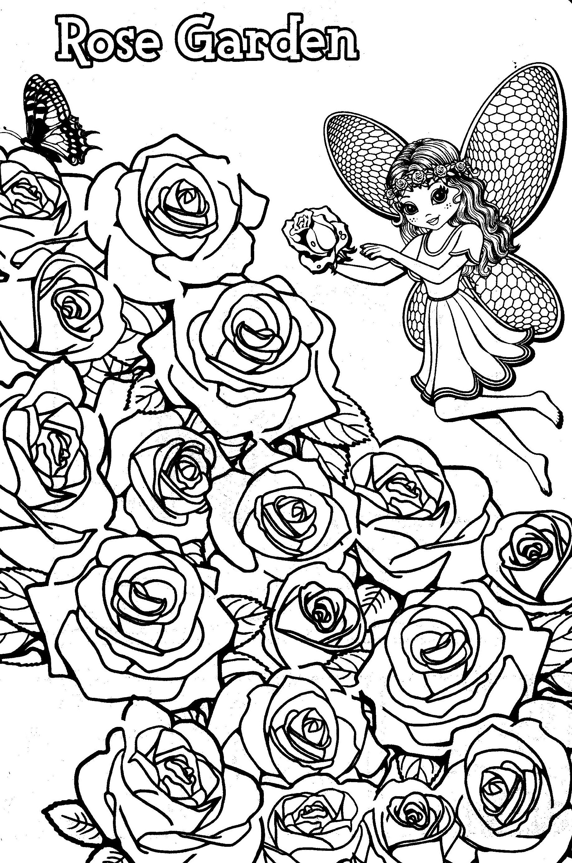 1834x2764 Lisa Frank Coloring Pages Rose Garden Fairy Adult Coloring Pages