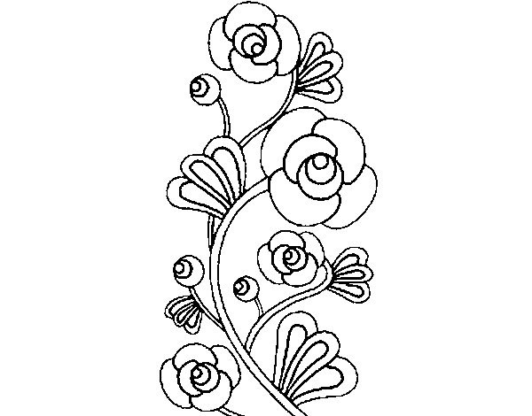 600x470 Rose Garden Coloring Page