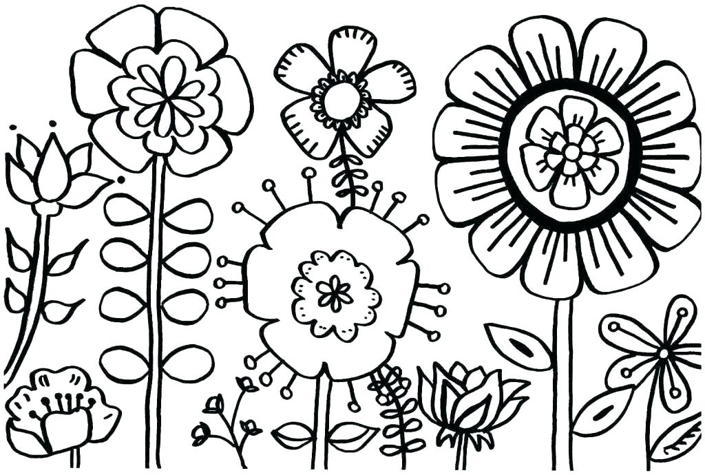 1024x690 Spring Coloring Page Spring Coloring Pages For Preschoolers As