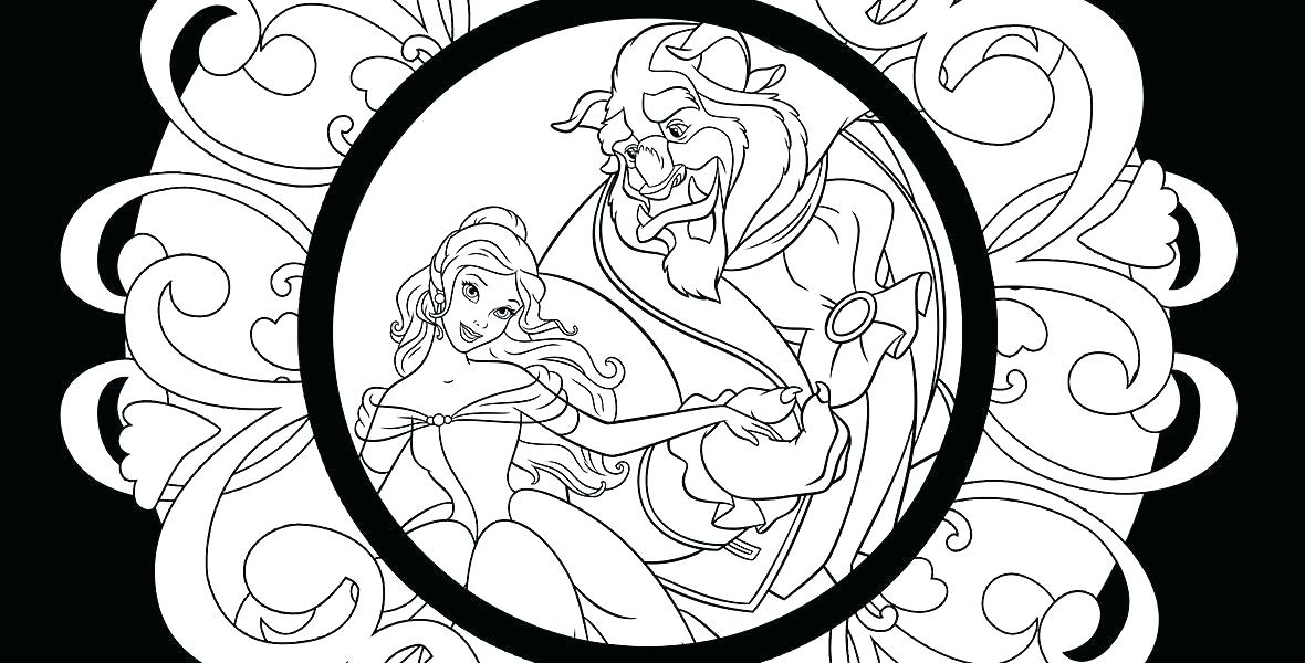 1180x600 Beauty And Beast Coloring Pages Belle And Beast