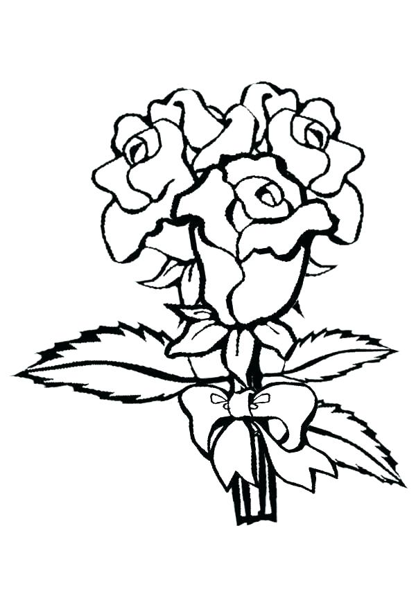 600x850 Coloring Page Rose Rose Coloring Pages Great Rose Coloring Pages