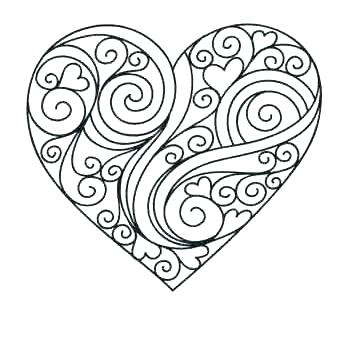 361x345 Heart Coloring Page Valentine Heart With Roses Coloring Pages