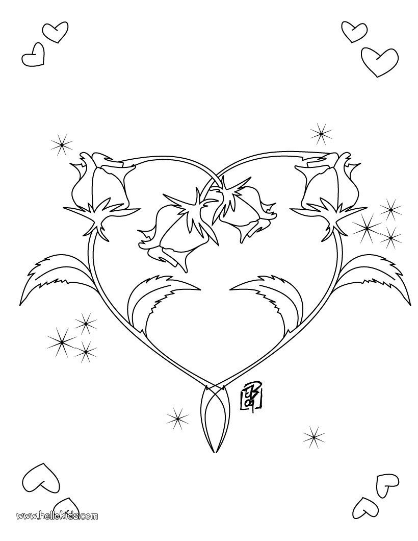 820x1060 Best Printable Heart Coloring Pages Image Picture Of Shape Styles