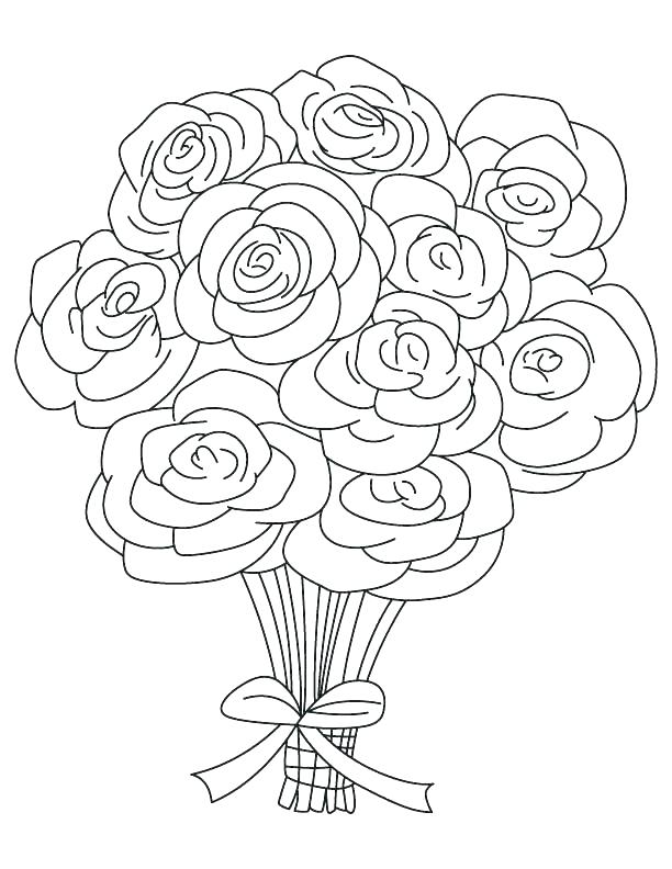 612x792 Rose Color Page Coloring Pages Roses And Hearts Heart And Roses