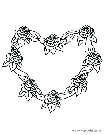 364x470 Roses And Hearts Coloring Pages Roses And Hearts Coloring Pages