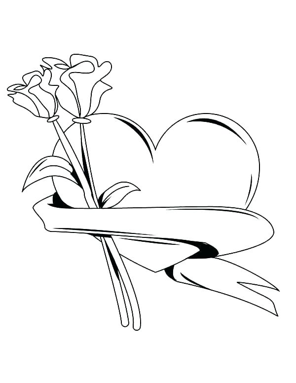 600x776 Heart Coloring Page