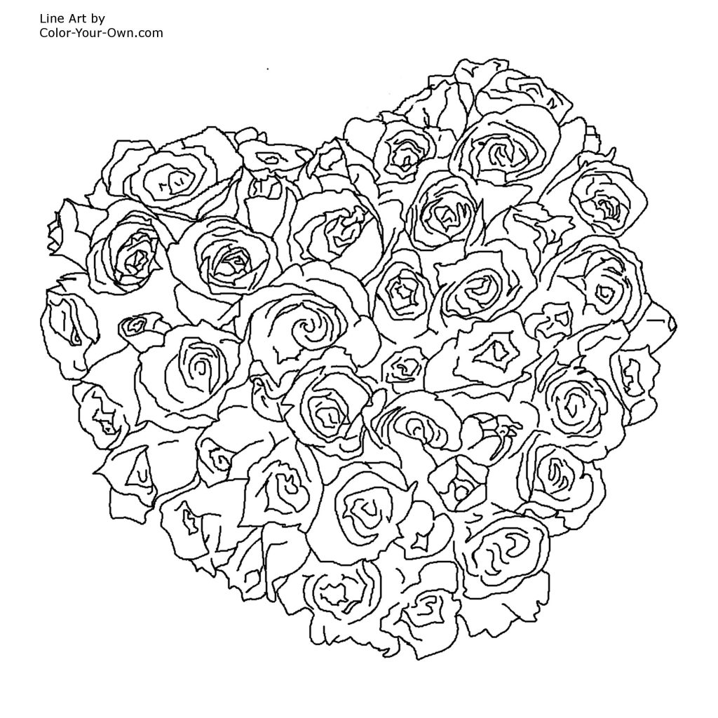 1024x1024 Rose Mandala Coloring Pages Amy Colouring Preschool Printable Free