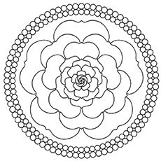 230x230 Top Free Printable Beautiful Rose Coloring Pages For Kids Mandala