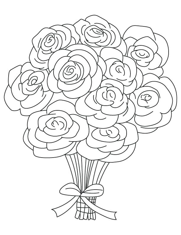 612x792 Coloring Pages For Kids Roses Also Coloring Pages For Kids Roses