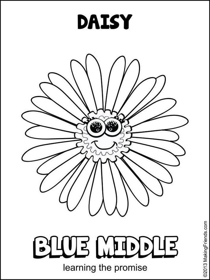 708x943 Daisy Blue Promise Center Maze Daisy Girl Scouts, Daisy Girl