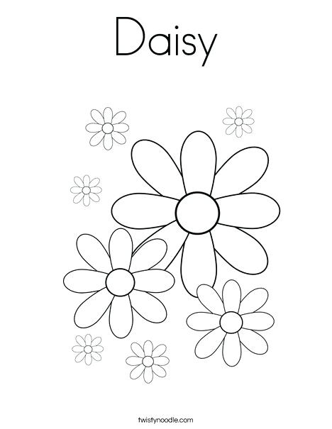 468x605 Daisy Coloring Pages Daisy Coloring Page Daisy Rose Petal Coloring