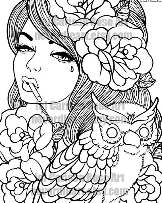 Rose Tattoo Coloring Pages