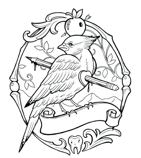 495x556 Coloring Tattoo Tattoo Coloring Pages Bird A Tattoo Shading