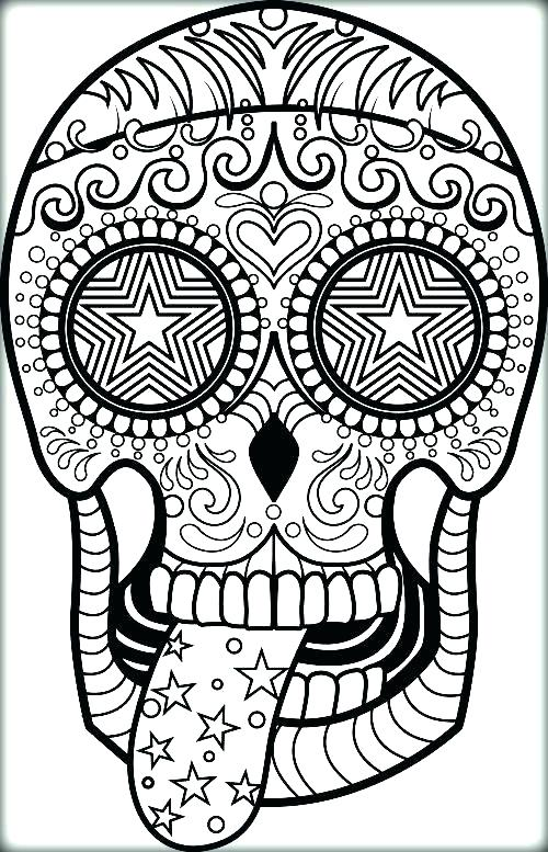 500x777 Colour Sugar Skull Tattoo Kids Coloring Sugar Skull Coloring Skull