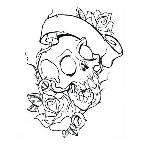 500x500 Skull Coloring Pages