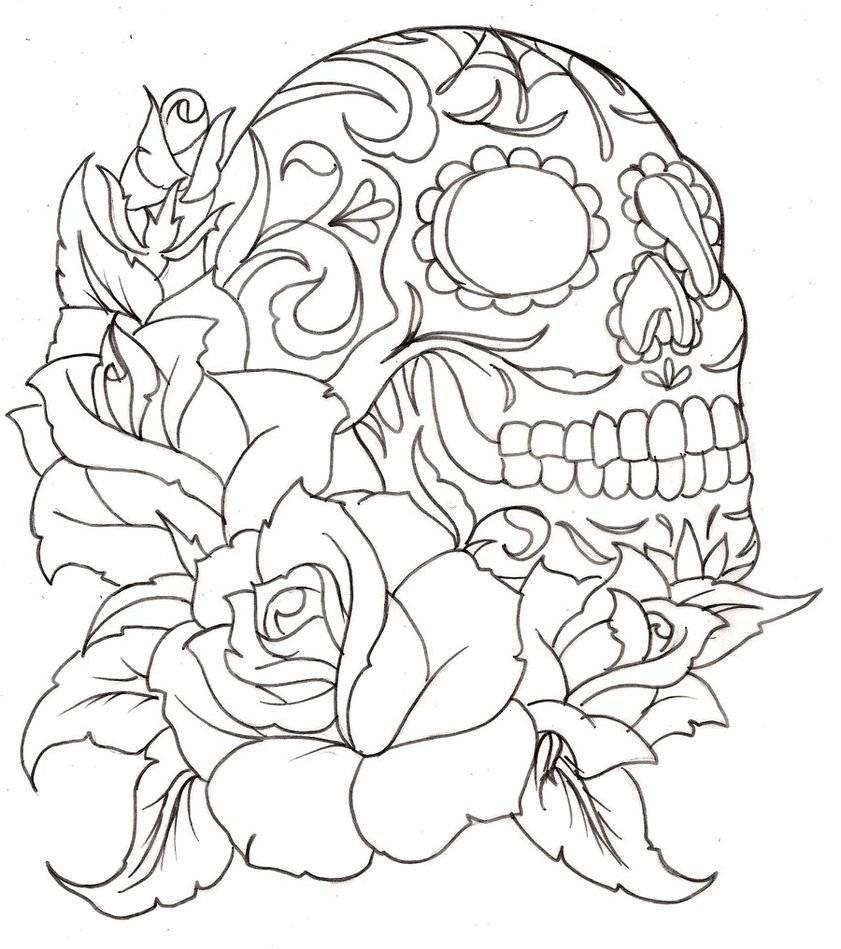 841x949 Sugar Skull And Roses Patterns O' Plenty Sugar