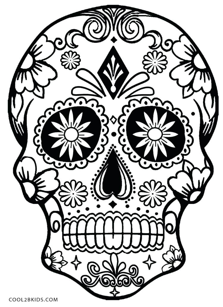 750x1033 Coloring Pages Of Skulls Printable Skulls Coloring Pages For Kids