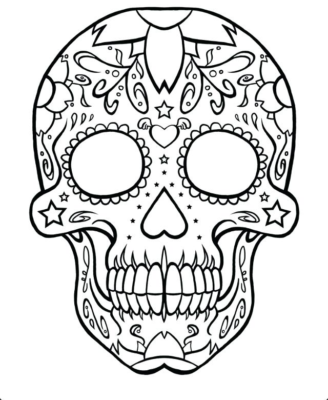 640x780 Coloring Pages Of Skulls Skull Coloring Page Free Online Printable