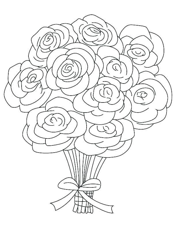 612x792 Hearts And Roses Coloring Pages Printable Luxury Heart Rose Color