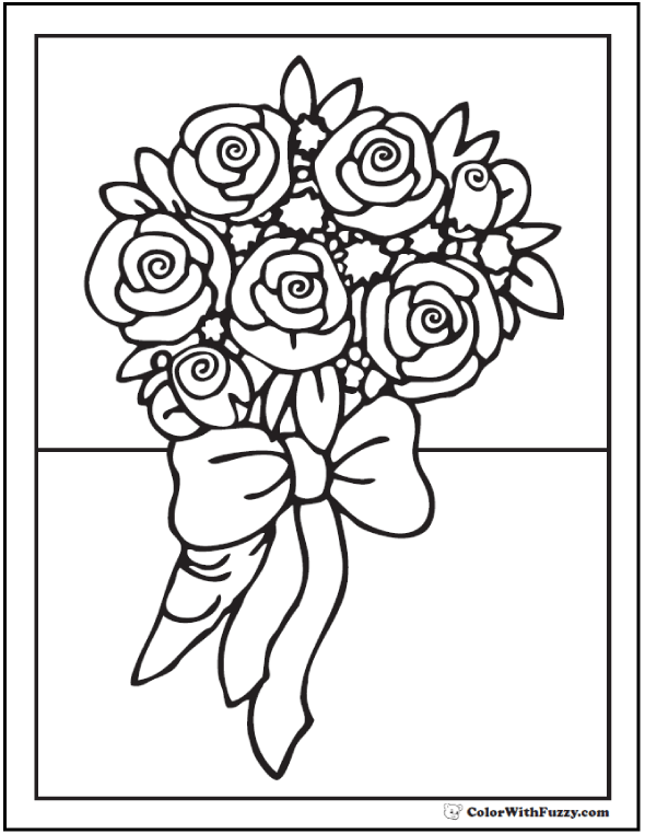 590x762 Rose Coloring Pages Customize Pdf Printables