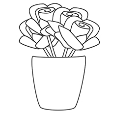 230x230 Roses Coloring Pages