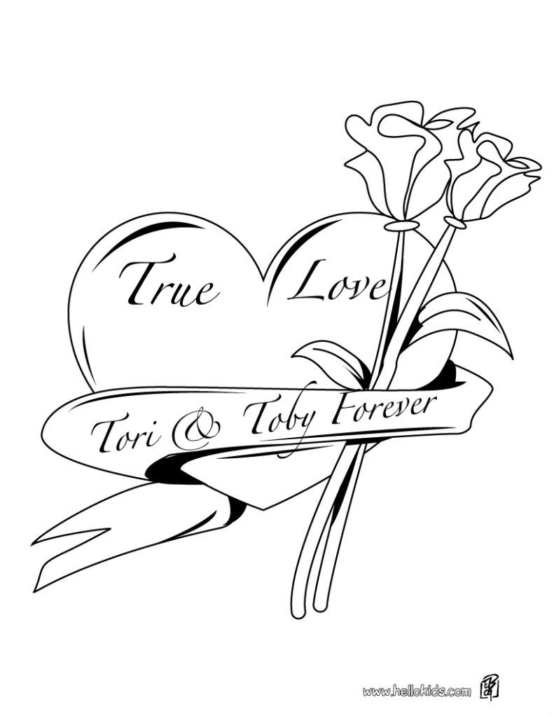 791x1022 Hearts And Roses Coloring Pages Pink Roses Diamond Hearts