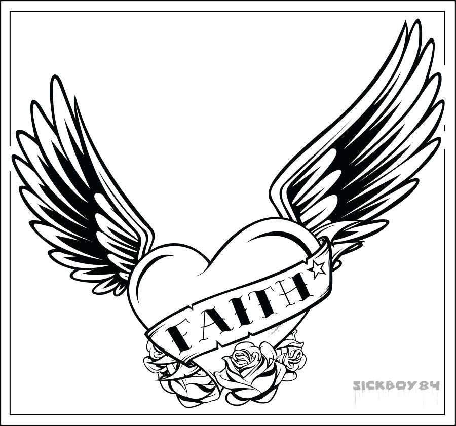 900x841 Coloring Pages Of Hearts With Wings And Roses Color Bros Coloring
