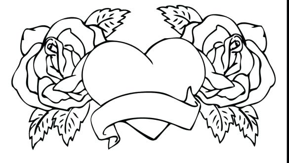 585x329 Coloring Pages Rose Coloring Pages Rose Awesome Rose Coloring