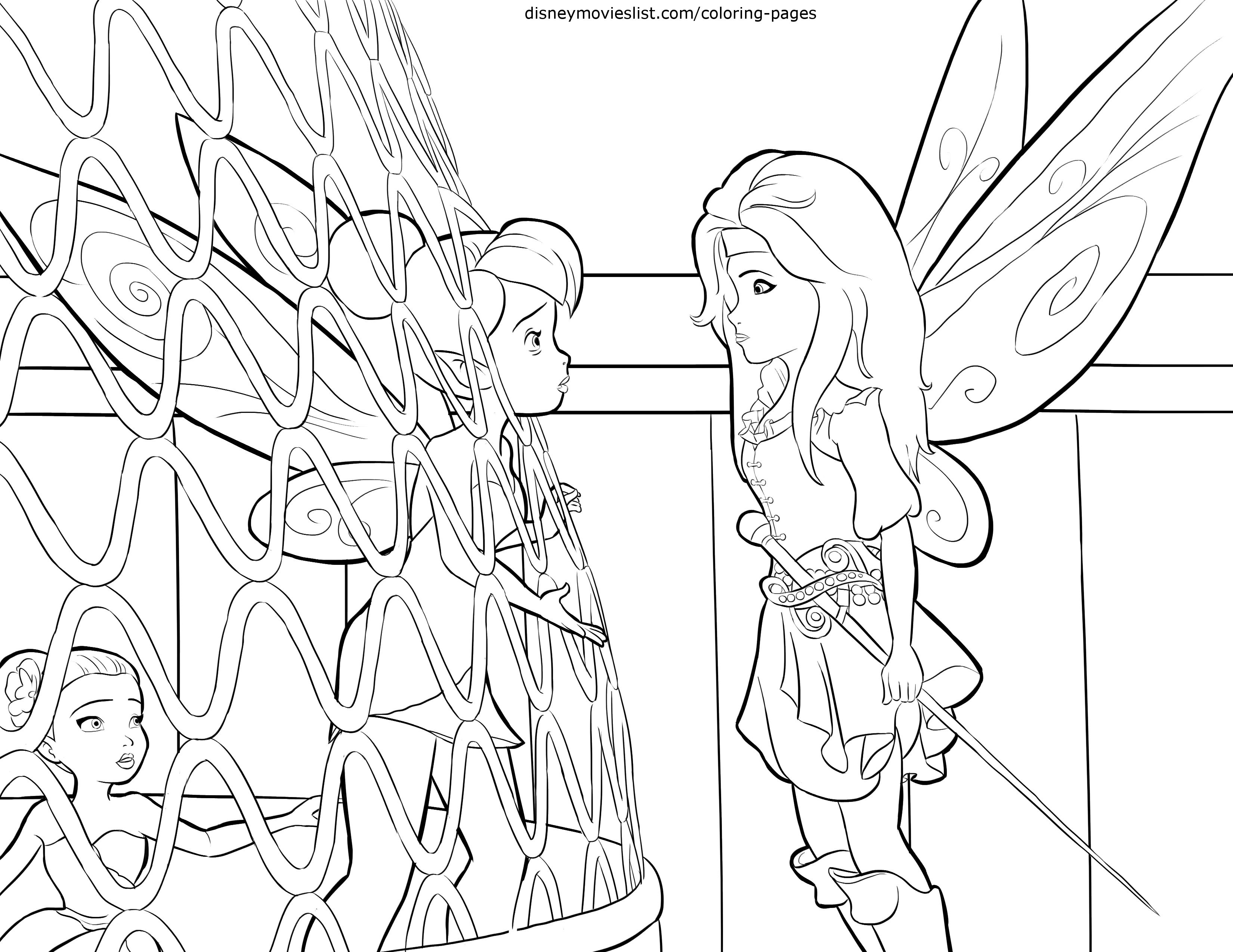 Rosetta Fairy Coloring Pages at GetDrawings.com | Free for ...
