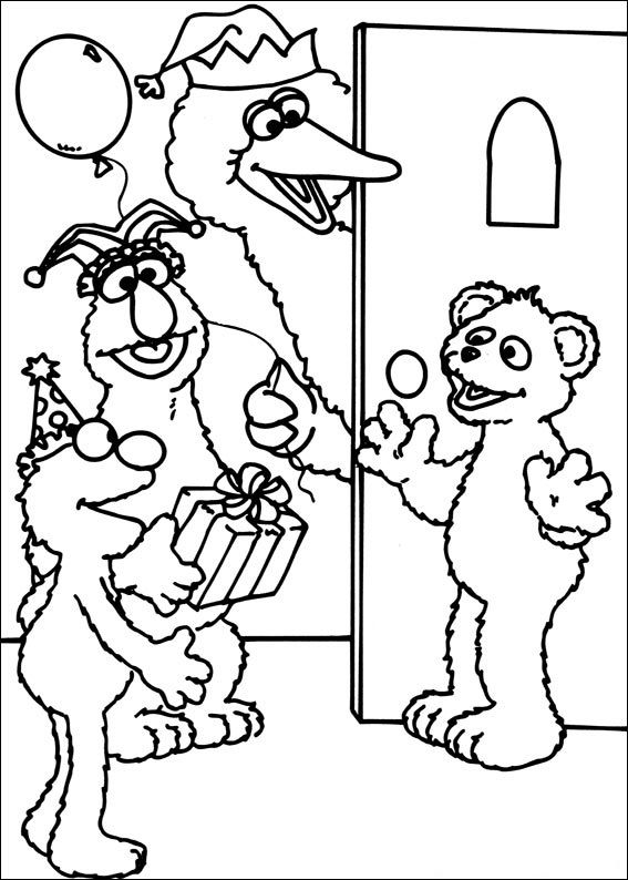 Rosita Sesame Street Coloring Pages