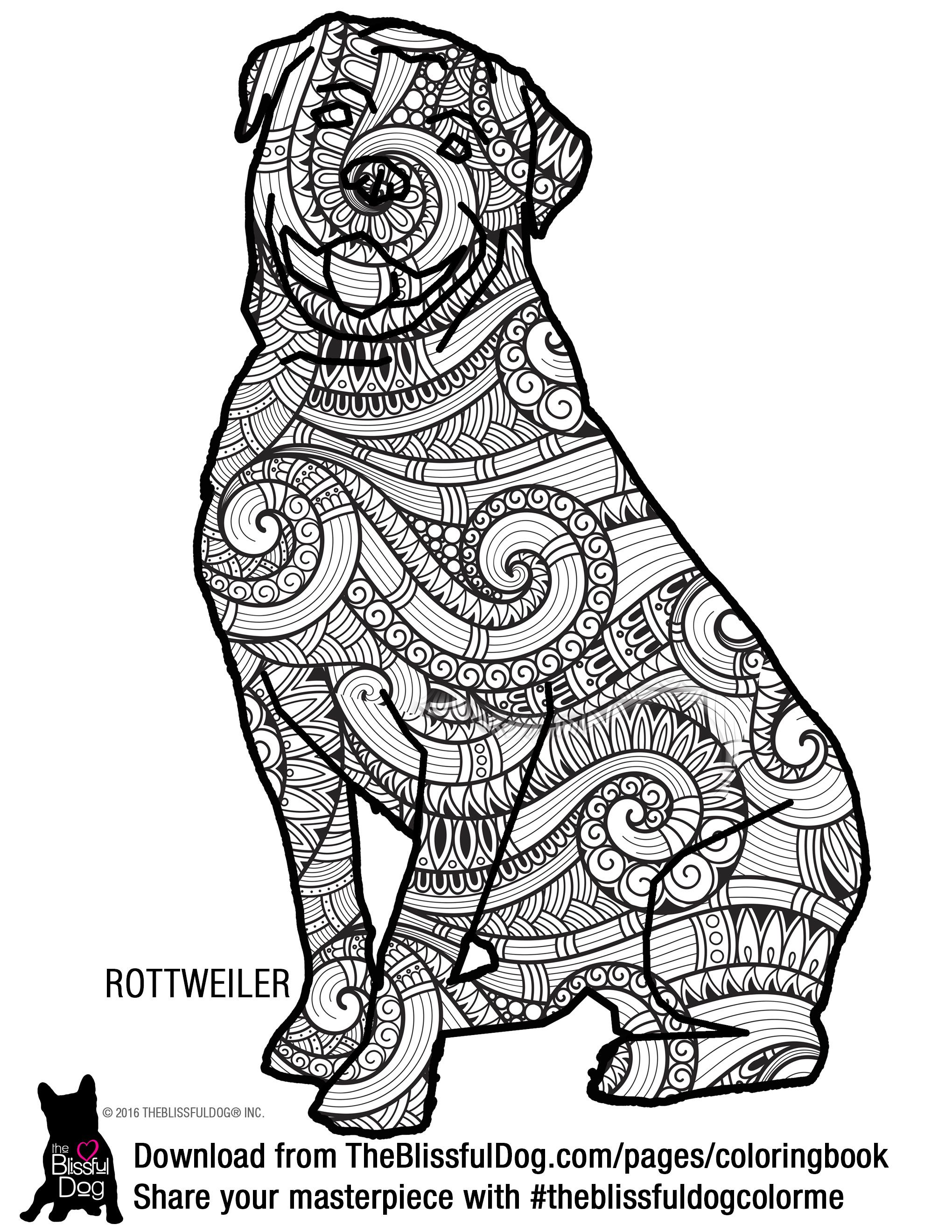 2040x2640 Rottweiler Coloring Pages