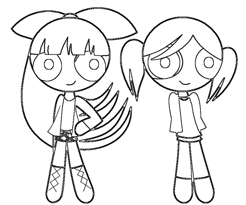 800x667 Powerpuff Girls Bubbles Coloring Pages