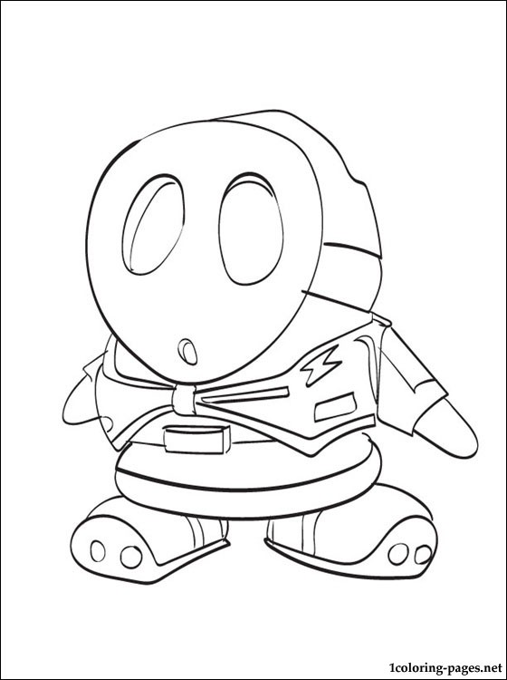 560x750 A Shy Guy Coloring Pages Shy Guy Mario Coloring Page To Print