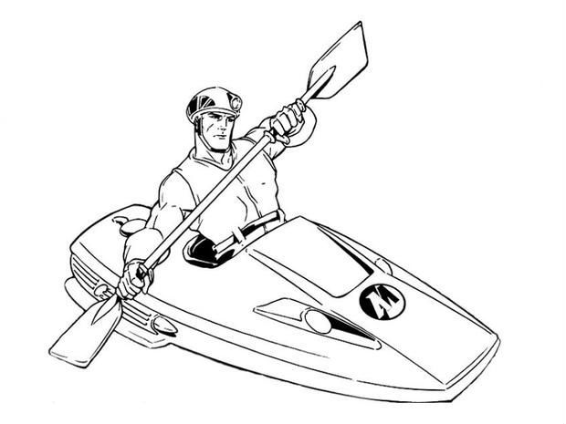 Rowing Coloring Pages